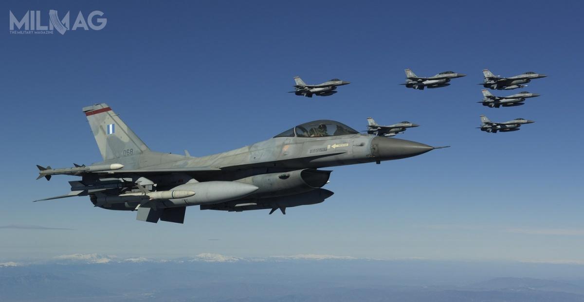 Wojska lotnicze Grecji operują flotą 155 egzemplarzy F-16 wwariantach Block 30, Block 50, Block 52 orazBlock 52+ Advanced (wtym 116 jednomiejscowymi F-16C i39 dwumiejscowymi F-16D). Modernizacja obejmie 85 znich. / Zdjęcie: Rzecznik prasowy Polemikí Aeroporía