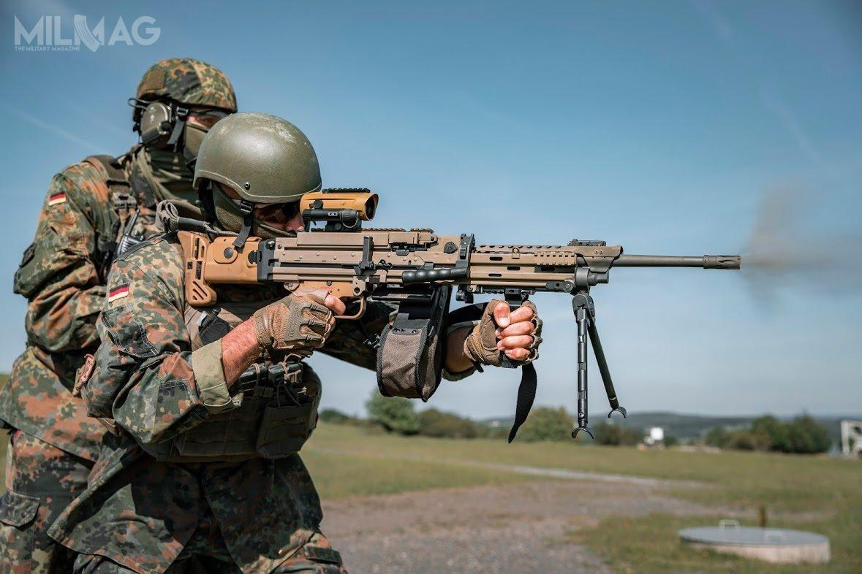 Niemcy zamierzają wprowadzić dwie odmiany MG4: podstawową MG4A3 zlufą długości 450 mm iskróconą MG4kA3 – zlufą długości 370 mm. Masa tejpierwszej konstrukcji to8,6 kg. Szybkostrzelność  to825 strz./min. / Zdjęcia: Maximilian Schulz/Bundeswehr