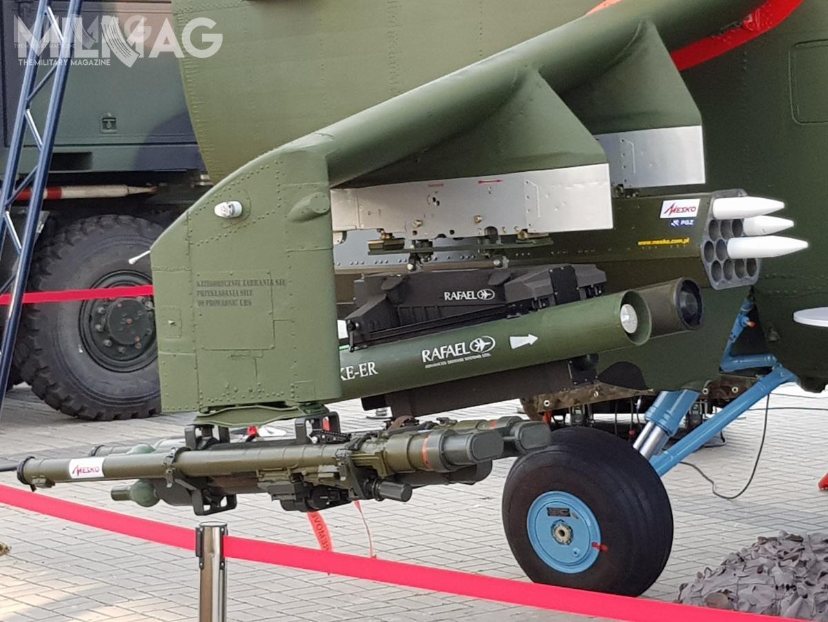 Zmodernizowane śmigłowce mają zostać uzbrojone wppk rodziny SPIKE orazniekierowane pociski rakietowe ipociski przeciwlotnicze Piorun bardzo krótkiego zasięgu produkowane przezMesko