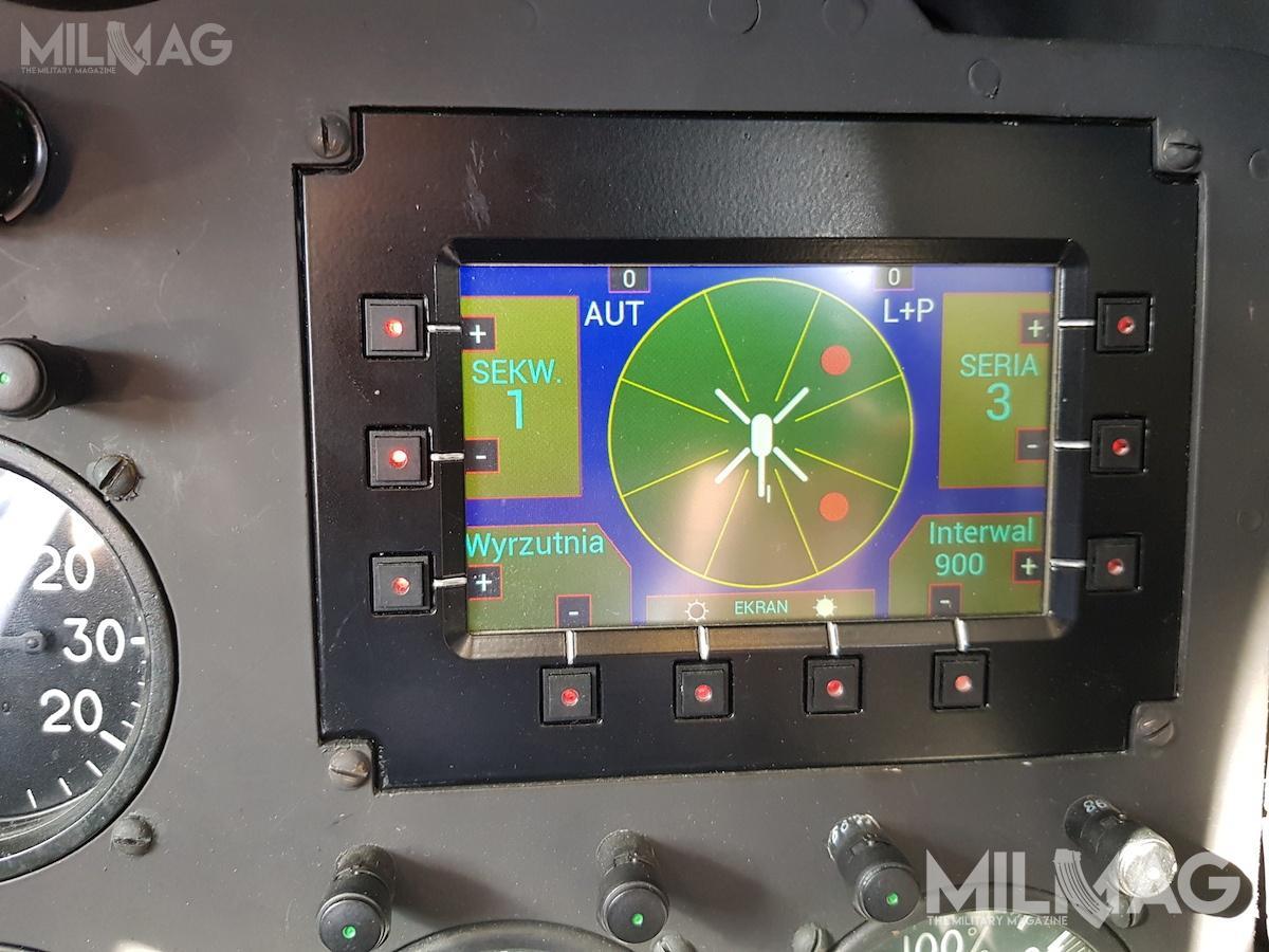 Nowy ekran wyświetlający ostrzeżenia oopromieniowaniu śmigłowca wiązką radarową