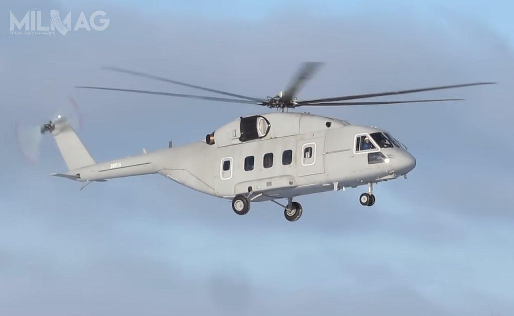 Mi-38 został zaprojektowany przezMoskiewską Fabrykę Śmigłowców im.Michaiła Mila, aby wypełnić niszę pomiędzy Mi-8 aMi-26T. /Zdjęcie: Rostiech