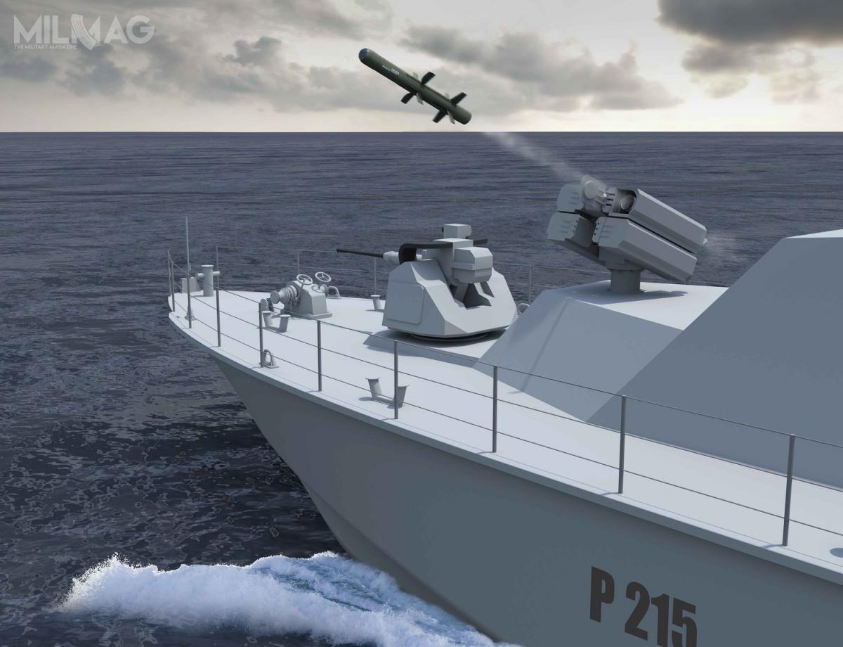 Projekt stałej wyrzutni dla ppk MMP powstał zmyślą ookrętach, takich jak kutry rakietowe czyłodzie RHIB wojsk specjalnych.