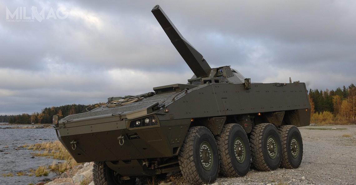 NEMO kal. 120 mm oferowany jest także napodwoziu AMV Patria 8x8. /Zdjęcie: Patria Hägglunds