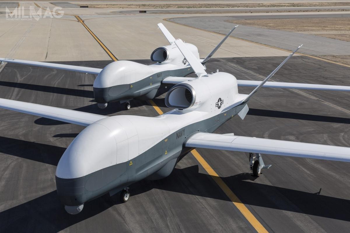 MQ-4C Triton naterenie zakładów Northrop Grumman wPalmdale wKalifornii /Zdjęcie: Chad Slattery, US Navy/Northrop Grumman