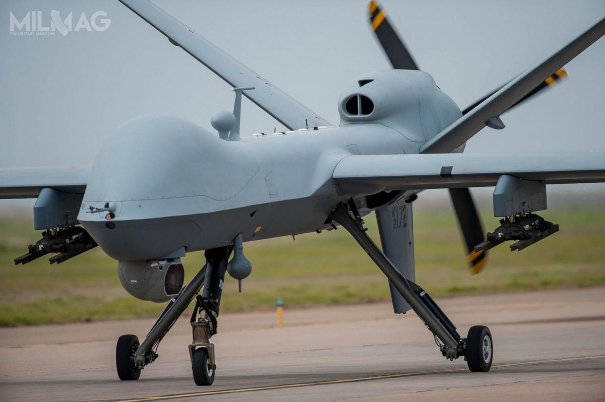 Bezzałogowe statki powietrzne klasy MALE MQ-9 Reaper są użytkowane przezsiły zbrojne USA, Francji, Włoch iWielkiej Brytanii. Zgodę nazakup tych bsl otrzymały w2015 Holandia orazHiszpania / Zdjęcia: USAF