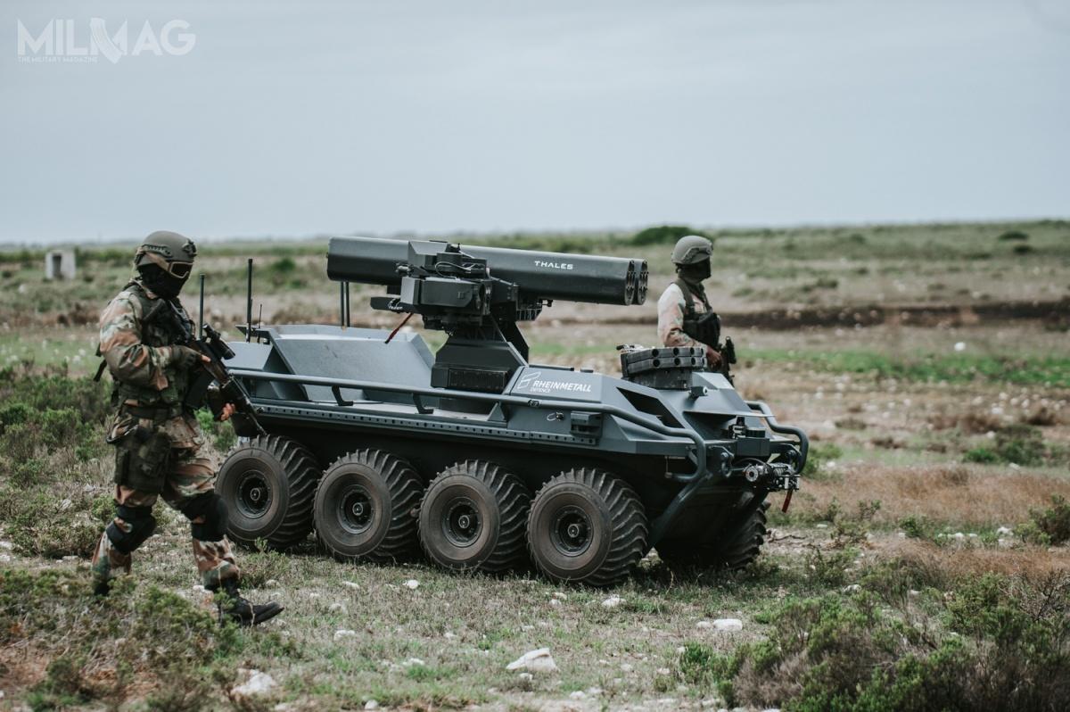 Bezzałogowy pojazd Mission Master Protection może przenosić dwie wyrzutnie 70-mm pocisków rakietowych