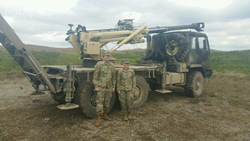 AM General zaoferowała lekką armatohaubicę Brutus MHS, testowaną przezUS Army wlistopadzie 2018 / Zdjęcie: 75. Brygada Artylerii Polowej US Army