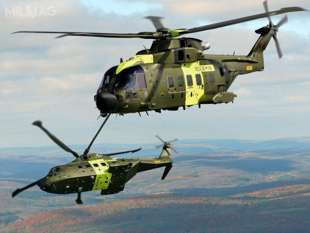 Śmigłowiec wielozadniwoy AW101, produkowany przezkonsorcjum AgustaWestland jest przykładem europejskiej kooperacji pomiędzy włoskim Leonardo abrytyjskim GKN. / Zdjęcie: siły zbrojne Danii