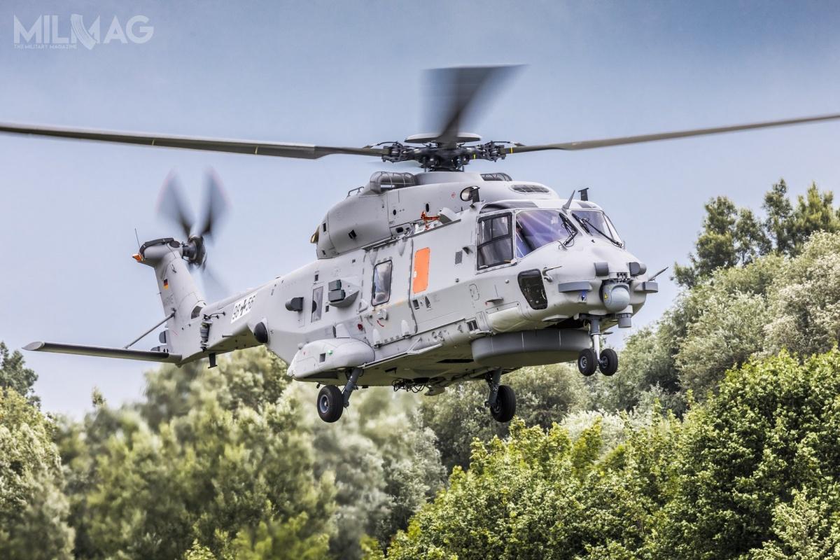Decyzja BAAINBw oznacza, żeokoło 5-tonowe śmigłowce Westland Sea Lynx Mk.88 zostaną zastąpione przezdwukrotnie cięższe NH90 NFH wkonfiguracji specjalnej. NH90 powstają m.in.wniemieckich zakładach Airbusa wDonauwörth. Wariant TTH (Tactical Transport Helicopter) zamówiły niemieckie wojska lądowe wliczbie 82 egzemplarzy (zamiast planowanych pierwotnie 122) / Zdjęcie: Airbus Defence and Space