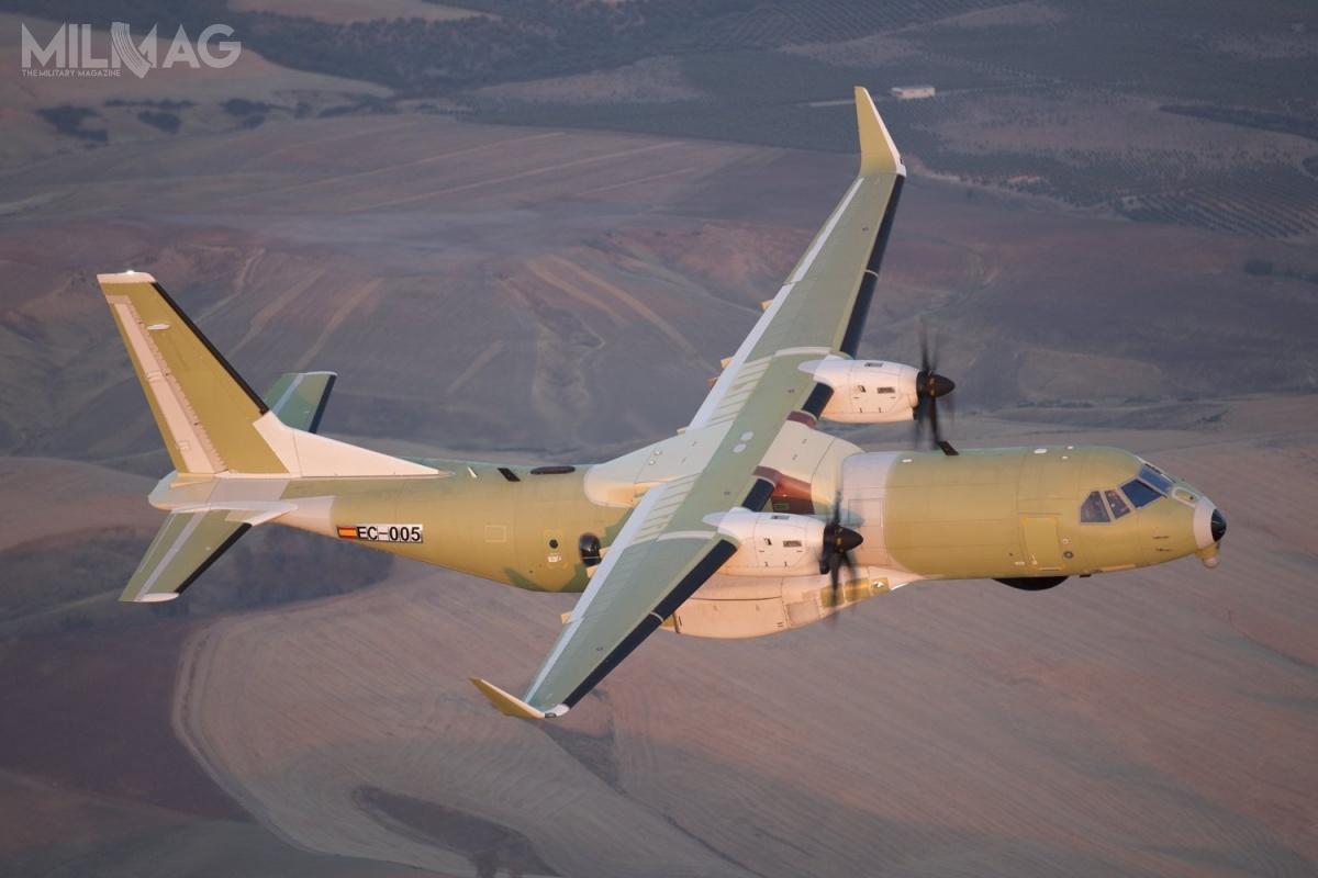 Samoloty C295 SAR/CC-295 powstają zudziałem przemysłu kanadyjskiego. Spółka Pratt & Whitney Canada dostarcza silniki turbośmigłowe PW127G, L3 Wescam systemy optoelektroniczne, aPAL Aerospace zobowiązała się doobsługi technicznej. /Zdjęcie: Airbus Defence and Space