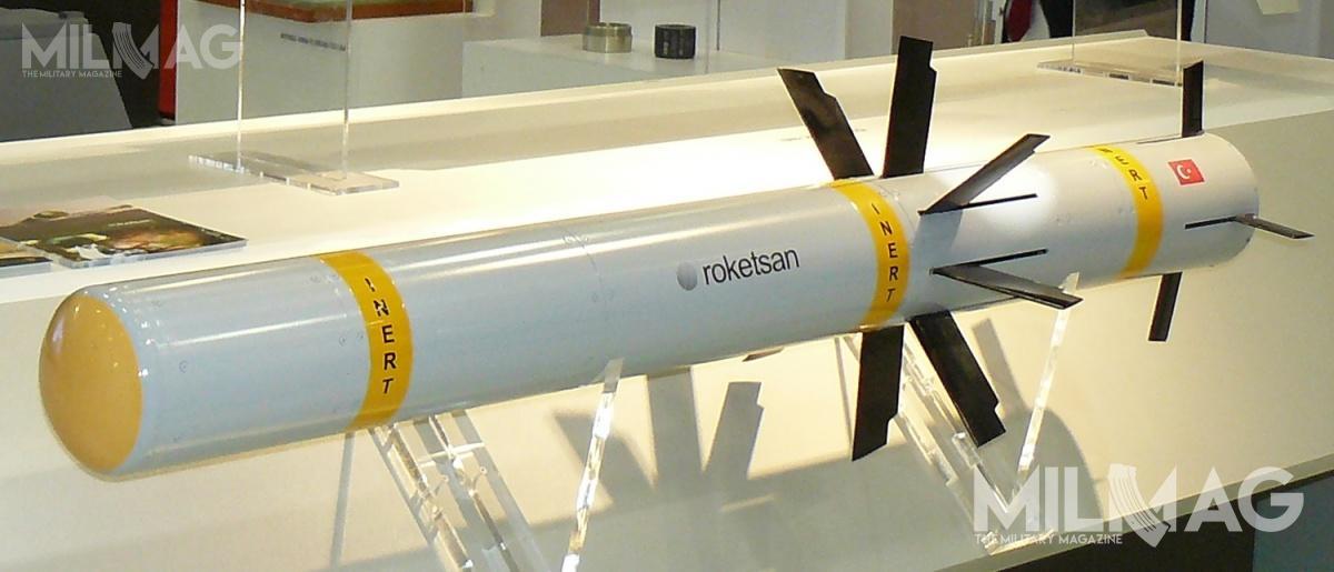 Przeciwpancerny pocisk kierowany OMTAS został poraz pierwszy pokazany w2015 podczas 11. międzynarodowej wystawy IDEF wStambule / Zdjęcia: Remigiusz Wilk