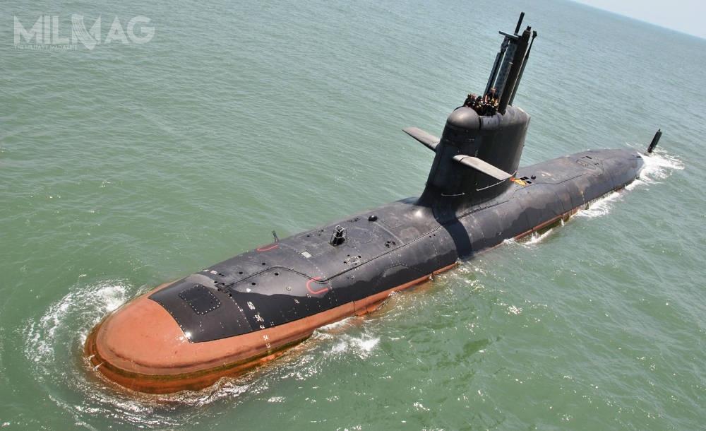 Okręty podwodne typu Scorpène jak dotąd weszły nawyposażenie marynarek wojennych Indii (typ Kalvari), Chile iMalezji. Kolejnym użytkownikiem będzie Brazylia. /Zdjęcie: Marynarka Wojenna Indii