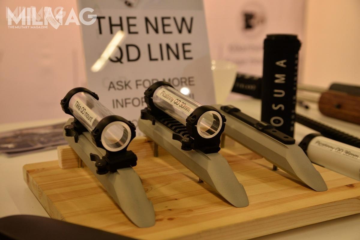 Fińska spółka OSUMA zaprezentowała podczas IWA 2019 kolejne modele podstaw docelowników optycznych.