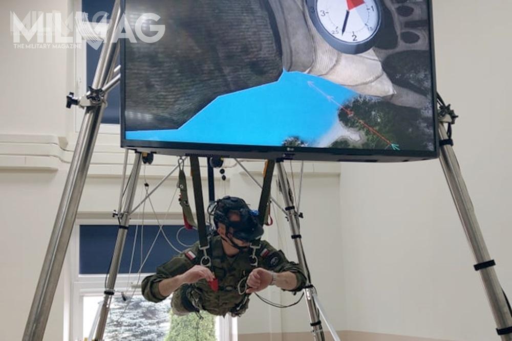 Lotnicza Akademia Wojskowa (LAW) odebrała kompleksowy symulator skoków spadochronowych Parasim. Jest oparty narzeczywistości wirtualnej, łączący rozwiązania trójwymiarowej rzeczywistości wirtualnej zdynamicznym modelem lotu spadochronu. Umożliwia skoczkom nabezpieczny irealistyczny trening wewszystkich fazach skoku: odswobodnego spadania dolądowania