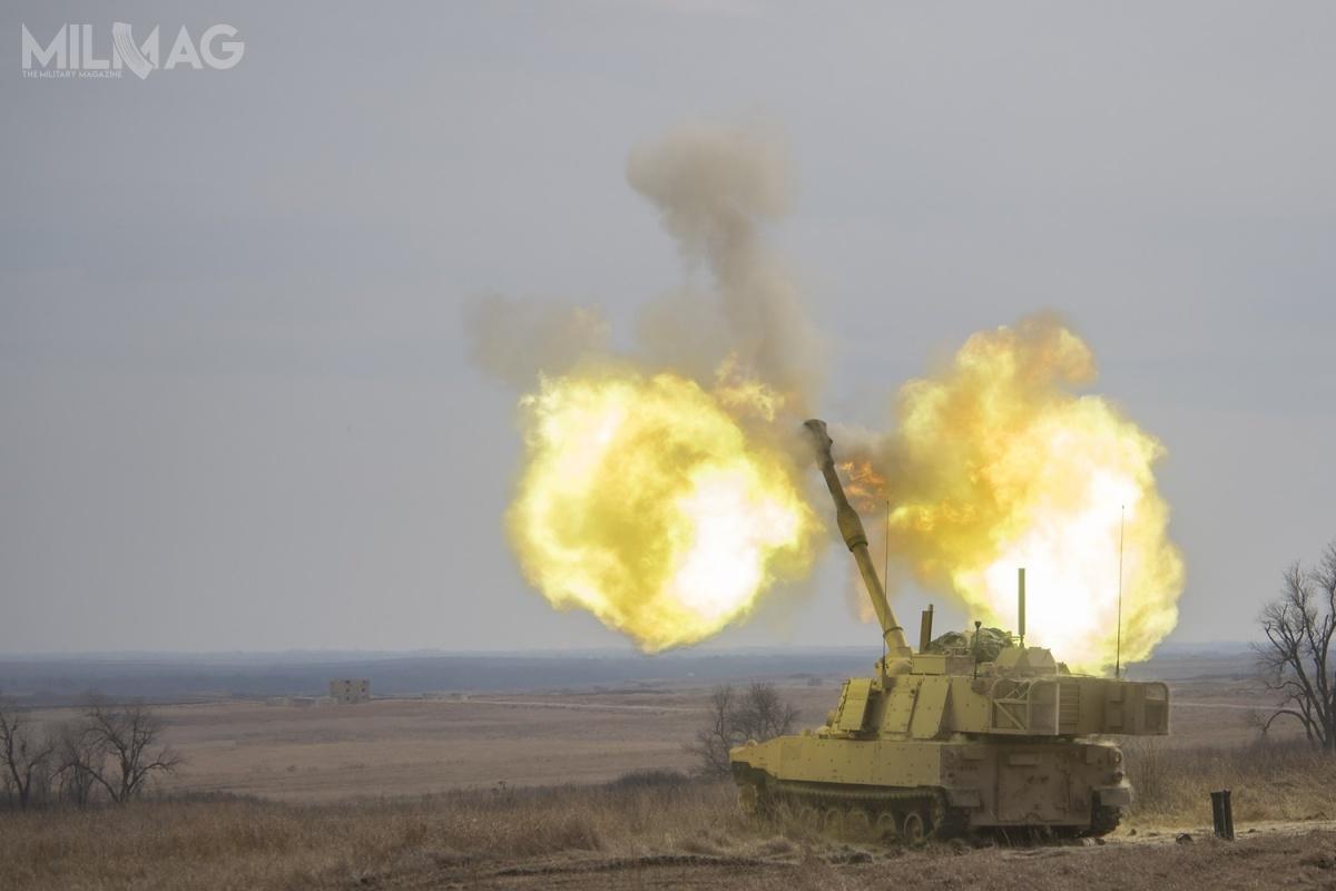M109A7 PIM podczas testów operacyjnych wWest Fort Hood wTeksasie. Poich zakończeniu nowe uzbrojenie wejdzie nawyposażenie US Army.