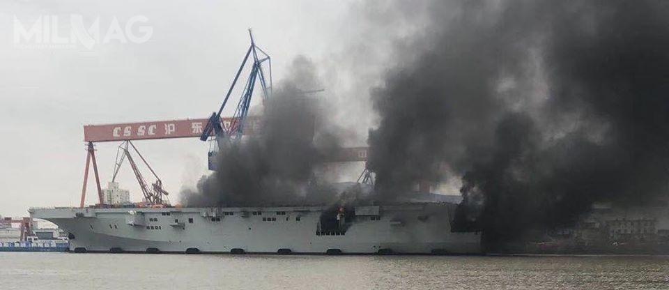Zgodnie zdoniesieniami świadków, pożar został stosunkowo szybko ugaszony, agęsty czarny dym wskazuje zapalenie się np.paliwa