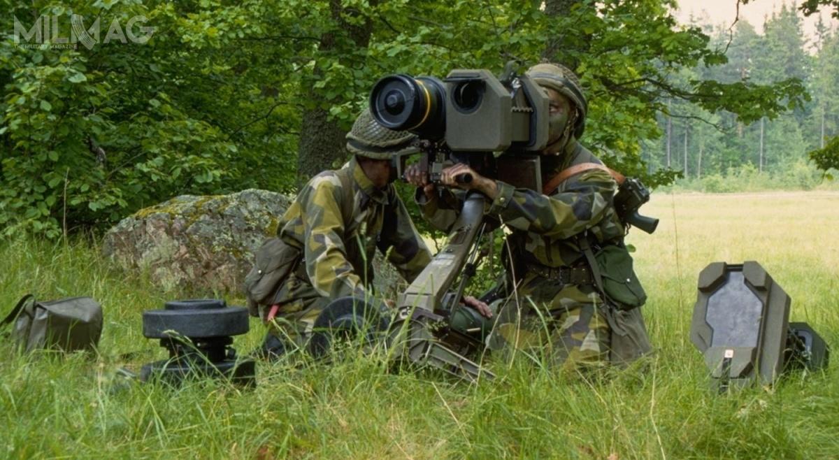 Wycofany w2013 szwedzki przeciwpancerny pocisk kierowany RBS 56 BILL (Bofors Infantry Light and Lethal) wpierwotnej odmianie dostarczany był od1985, wpoprawionej BILL 2od1999. Obecnie siły zbrojne Królestwa Szwecji szukają nowego systemu dozwalczania celów opancerzonych / Zdjęcie: Försvarsmakten