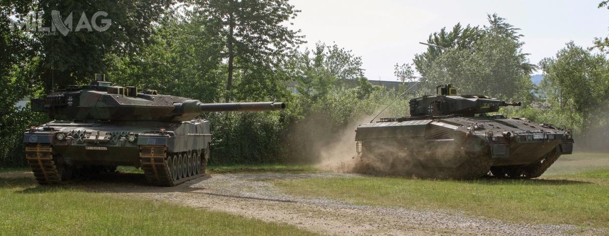Uzbrojenie bwp Puma stanowi 30-mm armata automatyczna MK 30-2/ABM zzapasem 400 szt. amunicji, 5,56-mm karabin maszynowy MG4 zzapasem 2000 szt. amunicji, 76-mm granatnik automatyczny orazwyrzutnia granatów dymnych. Część pojazdów została wyposażona wdwie wyrzutnie MELLS dla przeciwpancernych pocisków kierowanych Spike LR / Zdjęcia: Bundeswehra