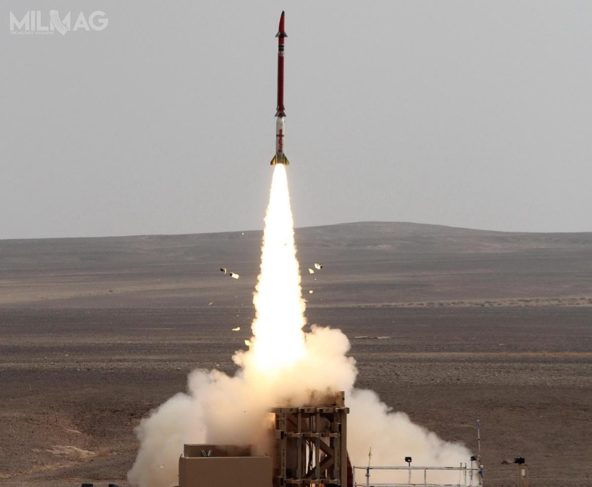 Jednym zsukcesów Rafaela był debiut bojowy systemu przeciwlotniczego iprzeciwrakietowego David's Sling (Proca Dawida), którynastąpił 23 czerwca 2018  / Grafika izdjęcie: Rafael Advanced Defense Systems