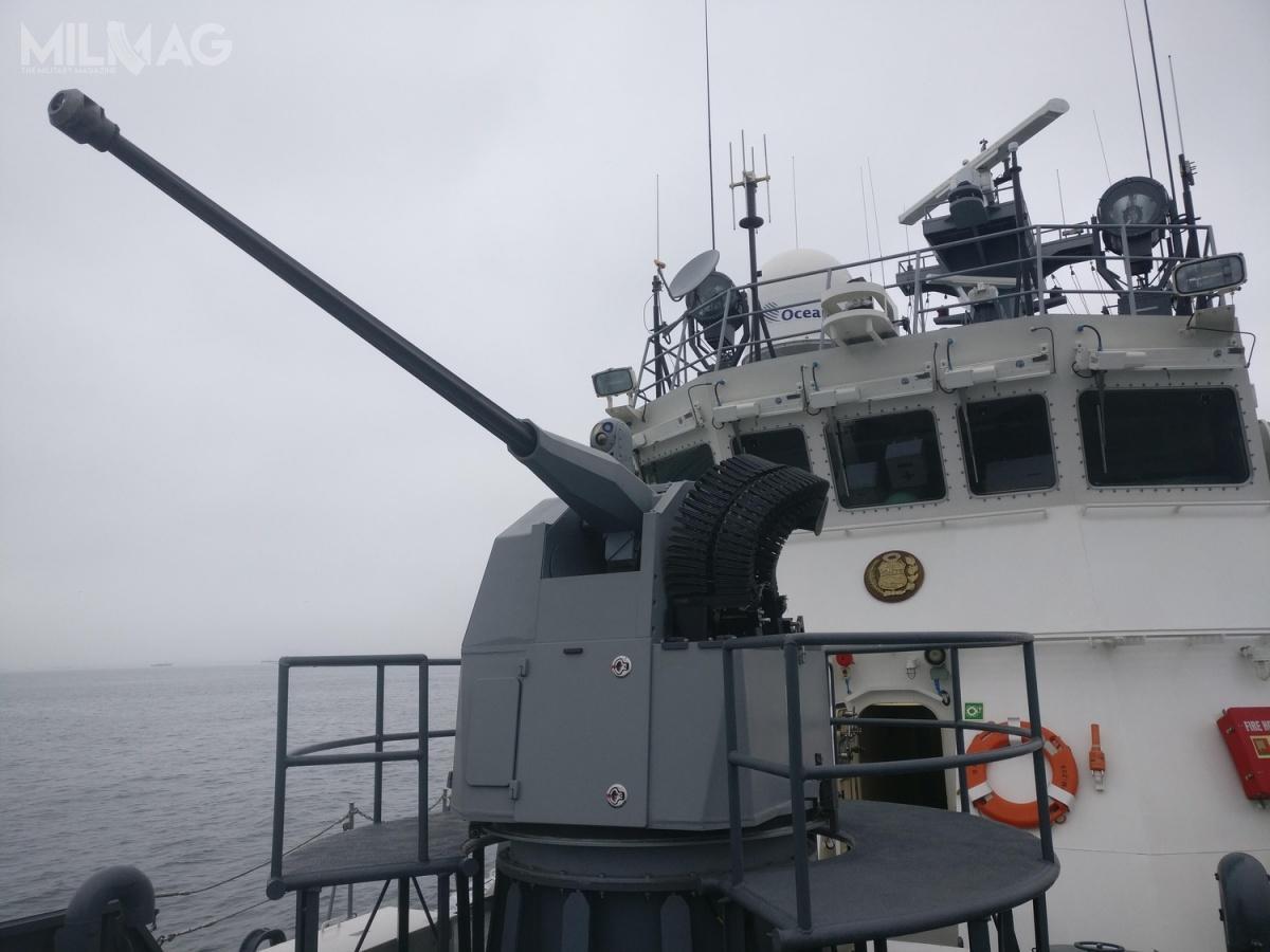 Zdalnie sterowany moduł uzbrojenia C-UAS Typhoon służy doochrony przedbezzałogowymi statkami latającymi.
