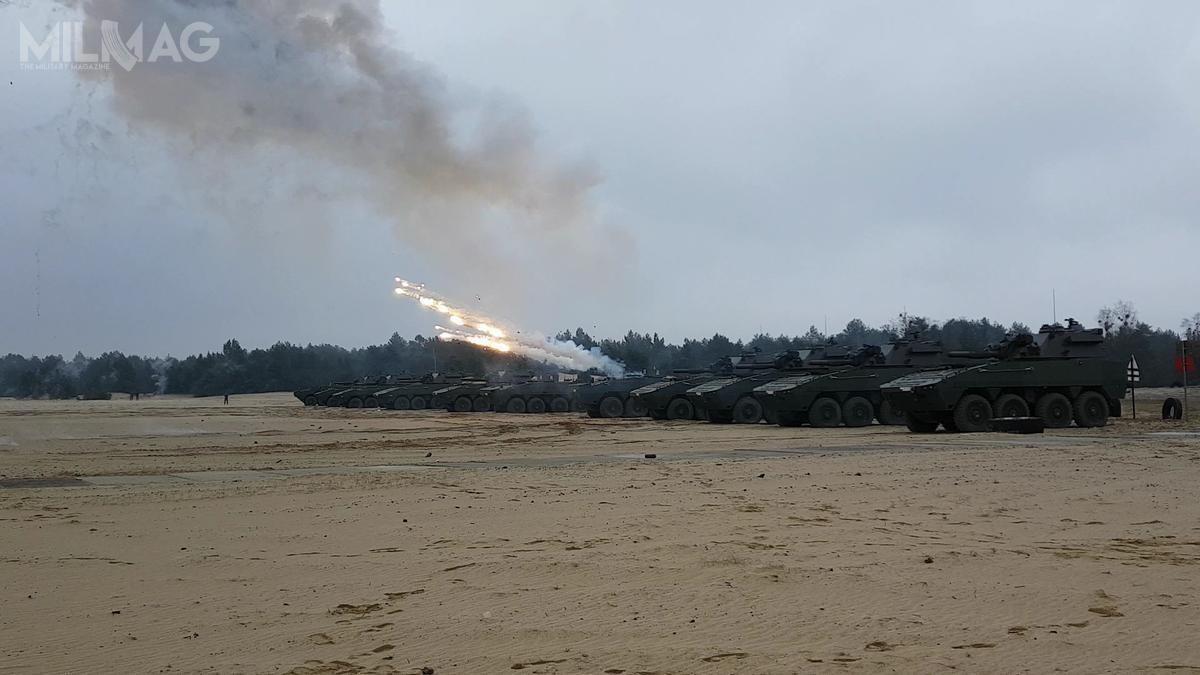 Pod koniec marca 2019 żołnierze 15. BZ wykonywali strzelania 120-mm moździerzy automatycznych M120 Rak zwykorzystaniem amunicji bojowej napoligonie Nowa Dęba. /Zdjęcie: 15. Giżycka Brygada Zmechanizowana