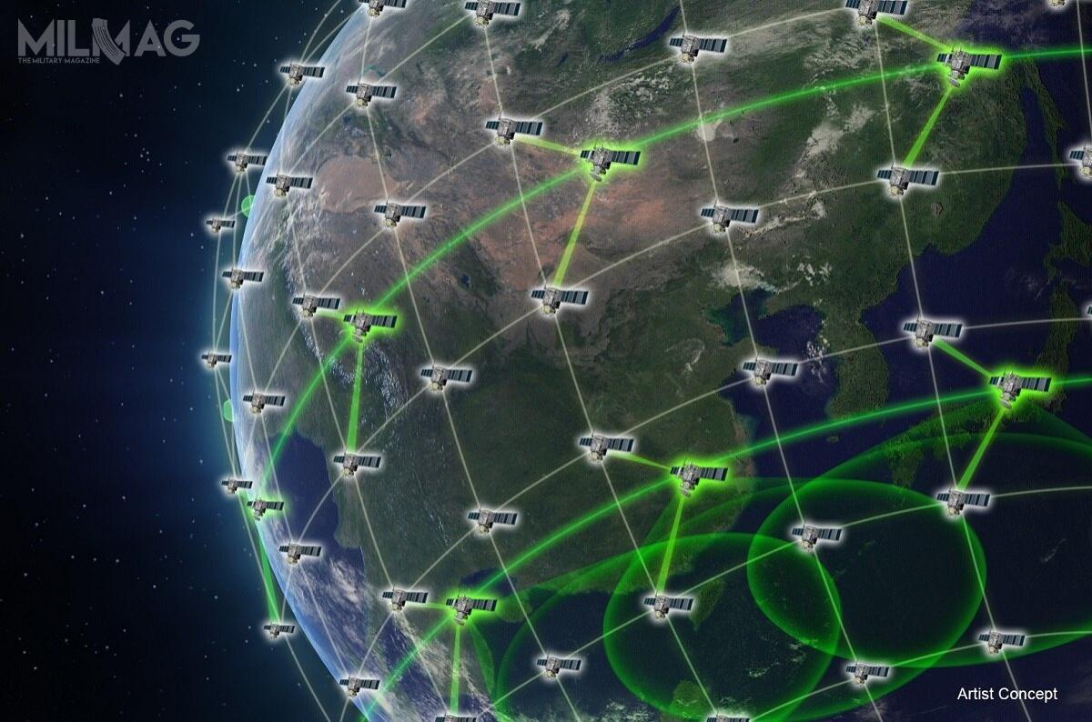 Program Blackjack ma nacelu zbadanie możliwości opracowania ibudowy sieci tysięcy małych iniedrogich satelitów okołoziemskich, zapewniających globalną, wszechstronną sieć wykrywania iłączności wcelu zapewnienia bezpieczeństwa USA / Grafika: DARPA