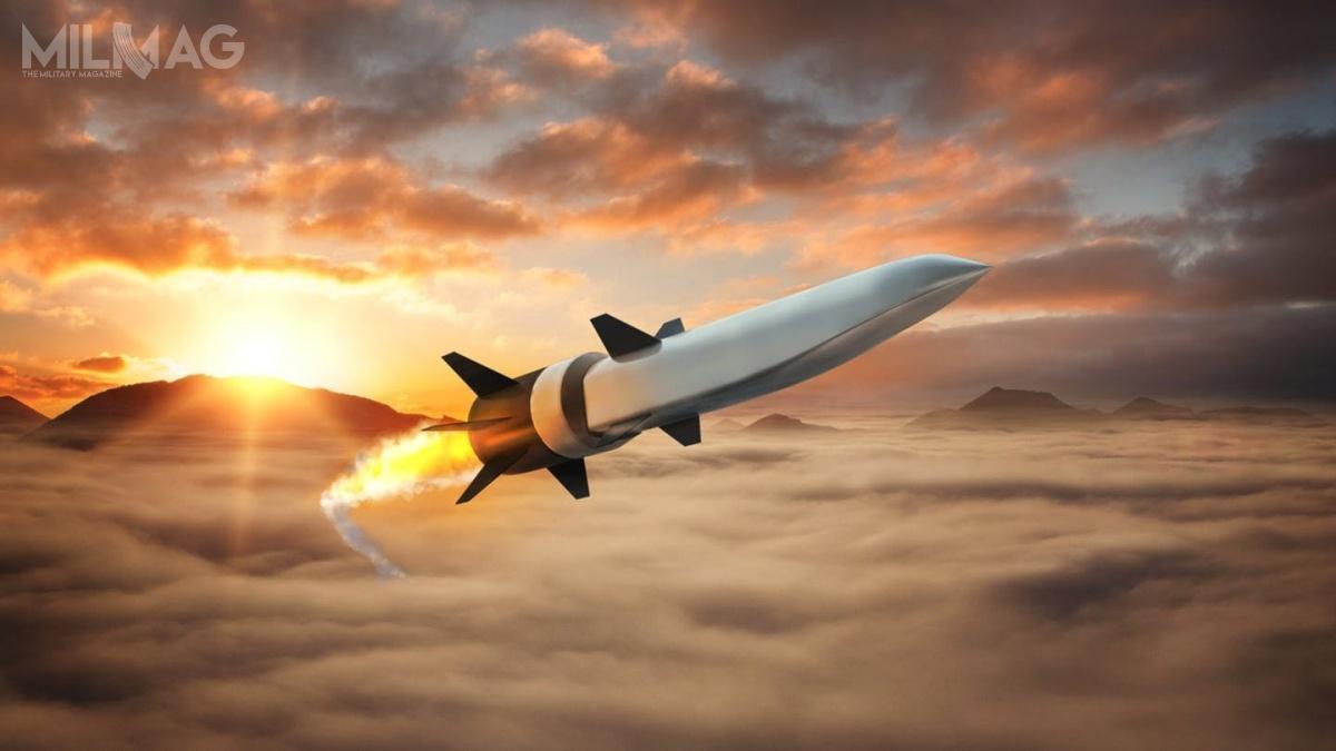Silnik strumieniowy typu scramjet różni się odsilnika ramjet tym, żepowietrze wkomorze spalania porusza się zprędkością ponad Ma1, dzięki czemu niemusi być sprężane zmieszanką paliwową. Dozajścia tego zjawiska wymagane jest jednak osiągniecie prędkości ponaddźwiękowej, co wprzypadku odpalanego zpowietrza pocisku manewrującego oznacza, żezostanie wyposażony wrakietowy przyspieszacz / Grafika: Raytheon