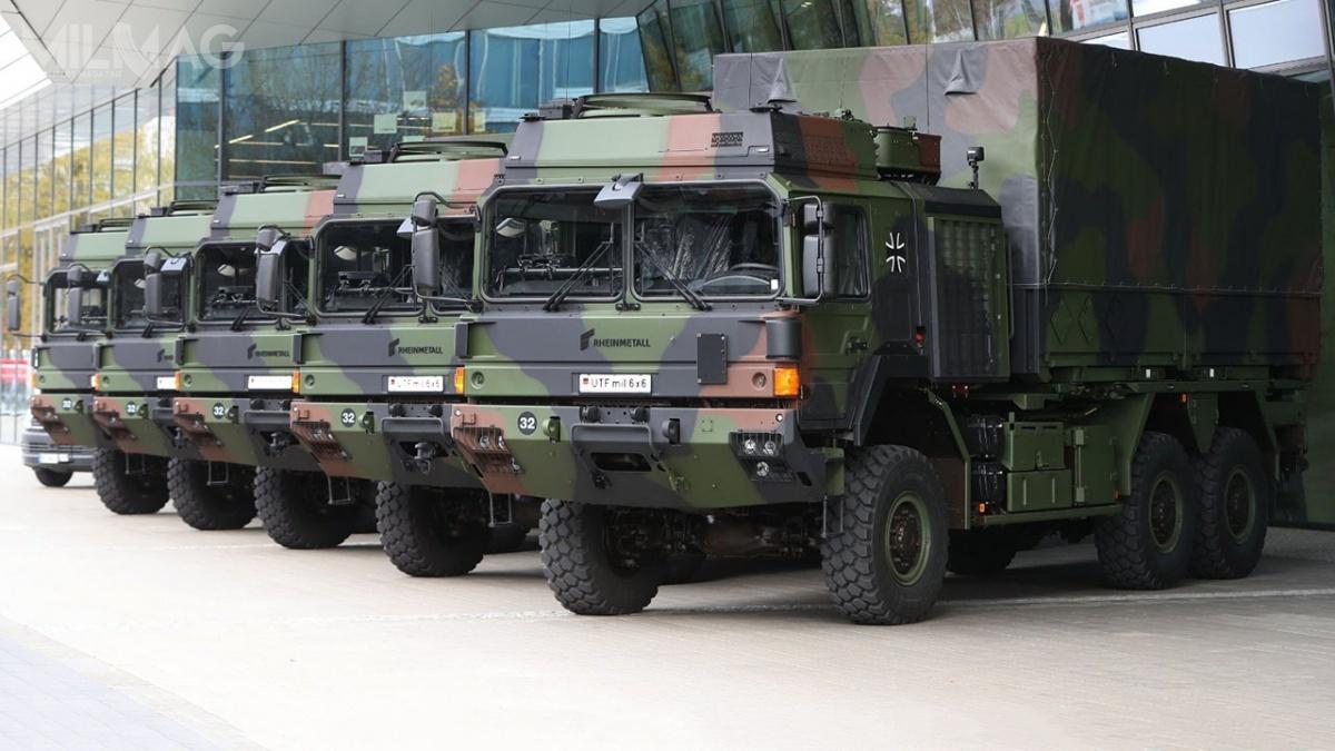 Nowe pojazdy ciężarowe zrodziny HX2 zastępują wwojskach lądowych Niemiec przestarzałe samochody MAN KAT1 MIL GL. Jak dotąd Wielka Brytania, Australia, Nowa Zelandia, Dania, Norwegia iSzwecja złożyły również zamówienia nasamochody ciężarowe współce Rheinmetall / Zdjęcie: RMMV
