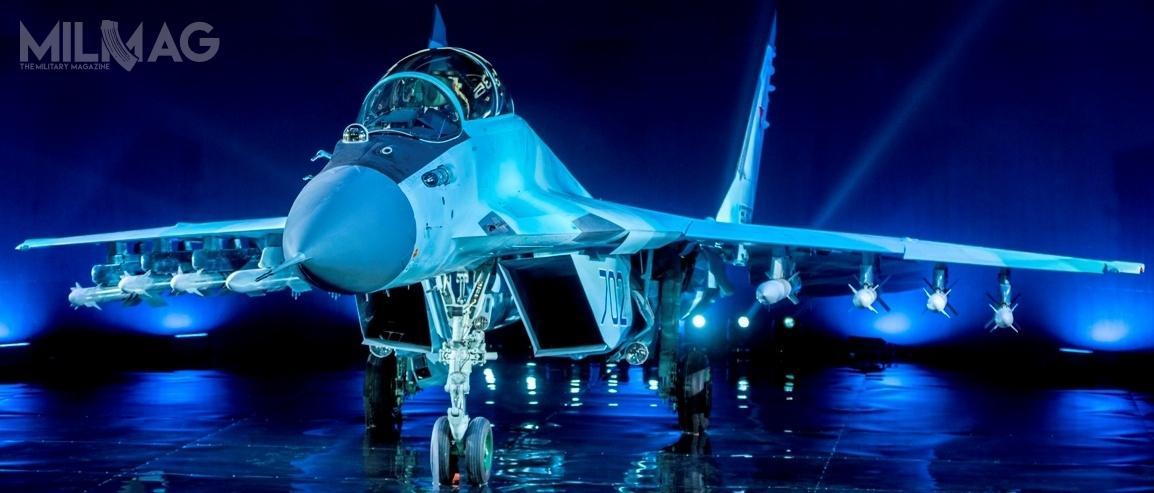 Nowy samolot opracowywany wramach programu LMFS miałby być następcą rodziny MiG-29 inowszych MiG-35 wdalszej kolejności. Miałby być także lżejszą ookoło 30% itańszą alternatywą bądź uzupełnieniem dla Su-57. Co ciekawe, podkoniec 2019 prezes OAK, Jurij Slusar informował opracach nadeksportowym MiG-35 ozmienionej geometrii płatowca inowym wyposażeniu kabiny / Zdjęcie: RSK MiG
