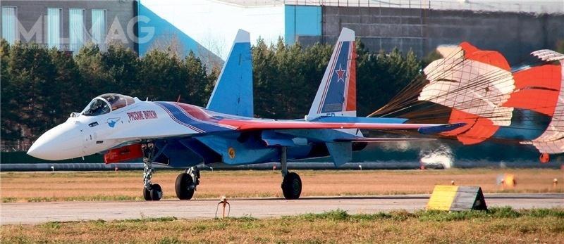 Od 2016 zespół lata naośmiu samolotach wielozadaniowych Su-30SM. Dlatego niejest jasne, czySu-35S zastąpią część czywszystkie dotychczasowo użytkowane egzemplarze / Zdjęcia Russkije Witjazi