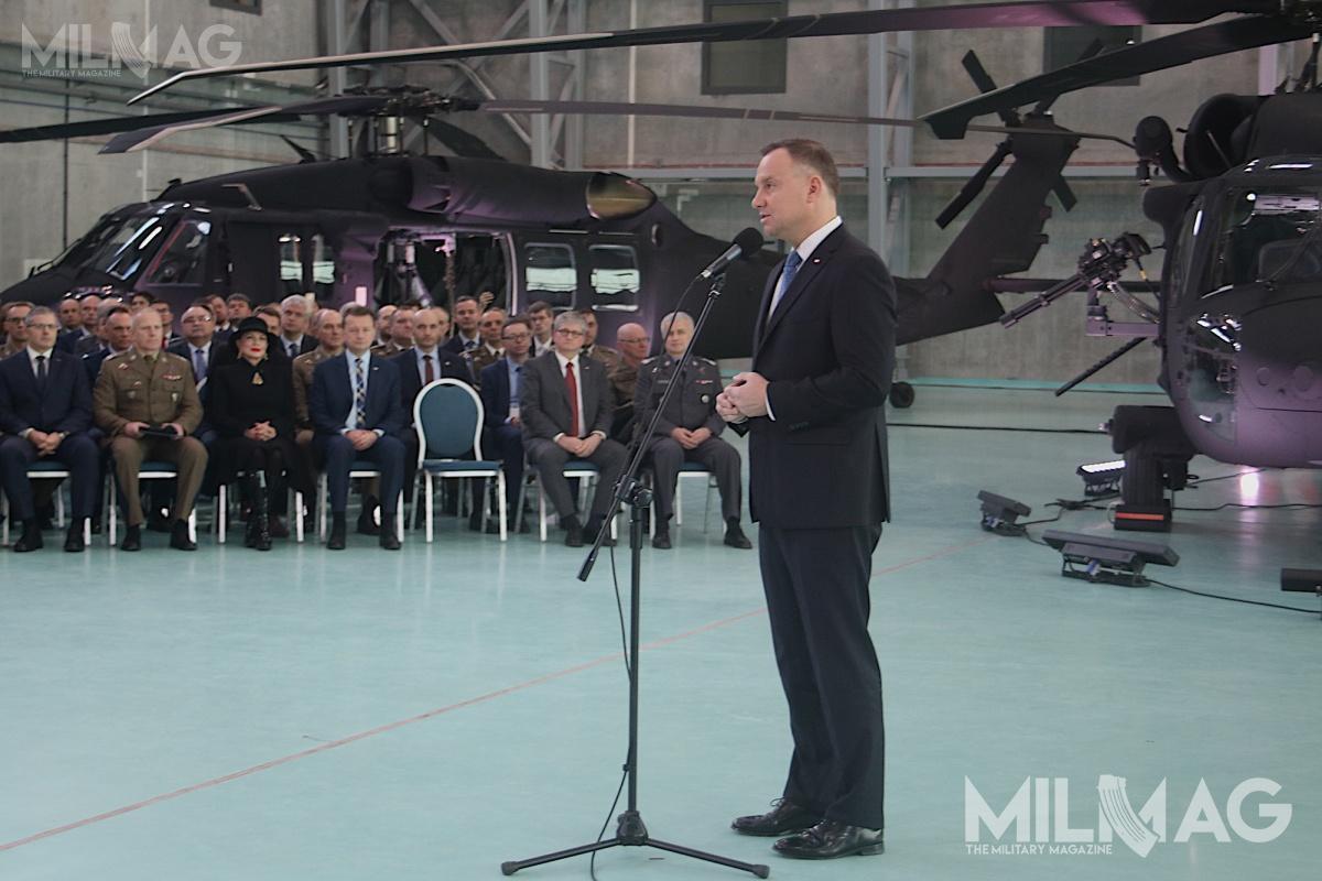 Prezydent Andrzej Duda niewykluczył dalszych zakupów śmigłowców dla Wojsk Specjalnych