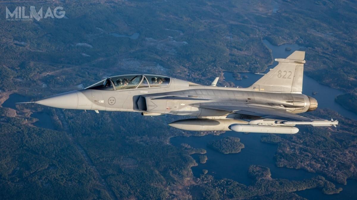 Zakłady mogą być częścią pakietu wkanadyjskim programie samolotów wielozadaniowych Future Fighter Capability Project, wktórymzaoferowano 88 egzemplarzy najnowszych JAS 39E/F Gripen / Grafika izdjęcie: Saab Defence and Security