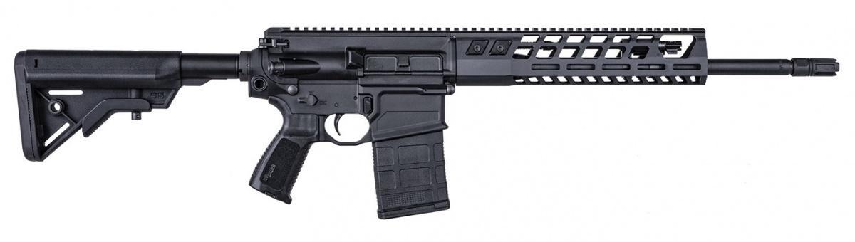 Ministerstwo obrony Indii zgodziło się nazakup dla wojsk lądowych 72,4 tys. karabinów SIG Sauer SIG716G2. Umowa ma zostać podpisana wpierwszych tygodniach lutego. Karabin wyposażony jest w16-calową/406-mm lufę mierzy 965 mm ima masę 4,3 kg. Broń zasilana jest z20-nabojowych magazynków / Zdjęcia: SIG Sauer