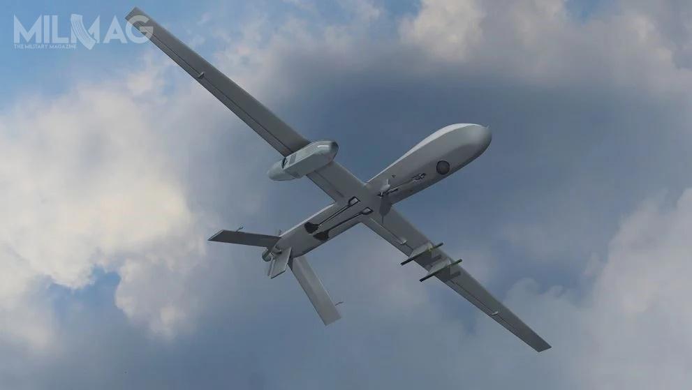 Zasobnik Silent Crow, którywUS Army otrzyma nazwę Air Large, będzie lotniczym elementem nowego systemu walki radioelektronicznej icybernetycznej, opartego natechnologiach sztucznej inteligencji. Będzie przenoszony przezuderzeniowe bsl MQ-1C Gray Eagle. / Grafika: Lockheed Martin