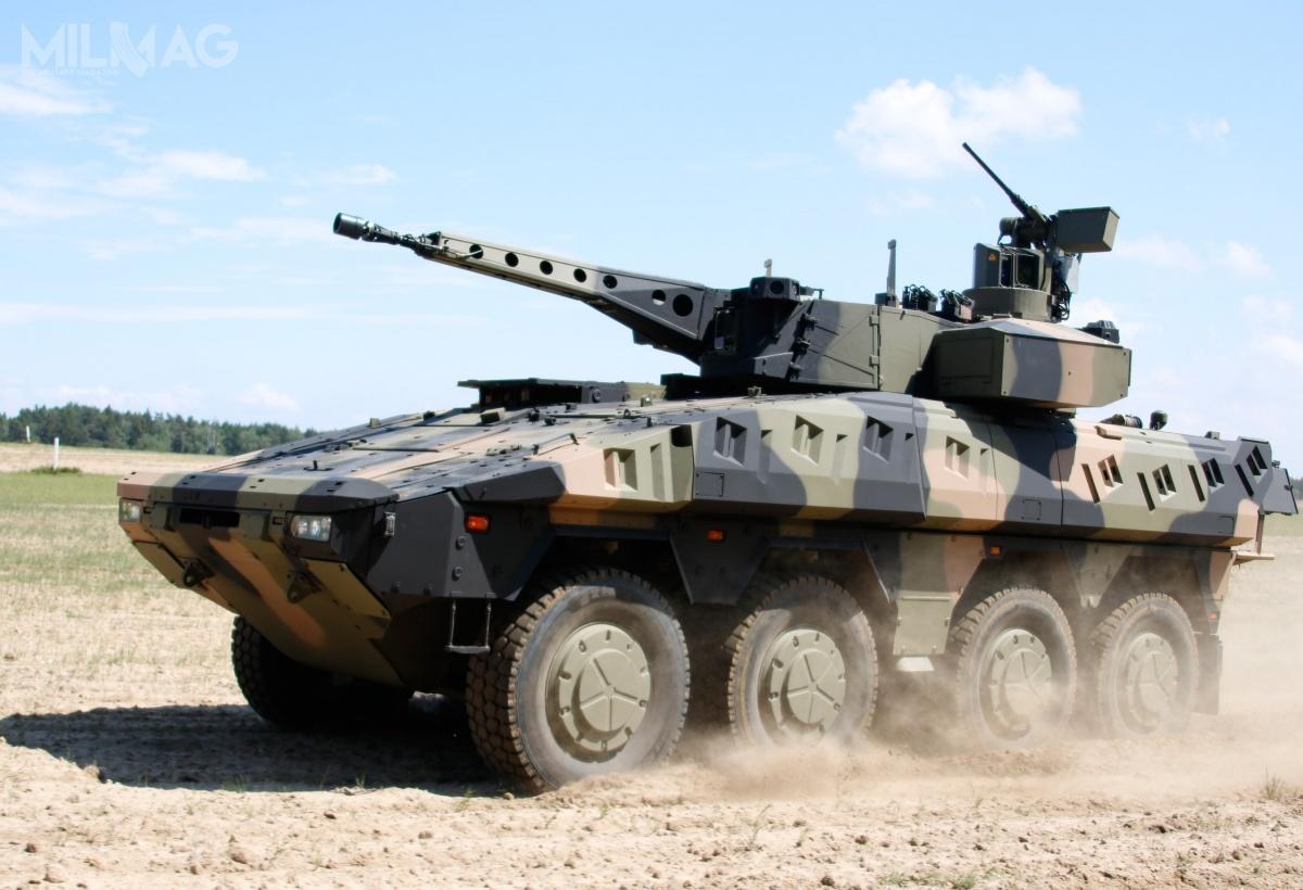 Wybrany przezAustralię bojowy wóz rozpoznawczy Boxer CRV wyposażony wdwuosobową wieżę Lance z30-mm armatą Rheinmetall MK30-2 i7,62-mm karabinem maszynowym. Wieża zostanie zintegrowana zdwoma wyrzutniami ppk Spike LR2 /Zdjęcie: Rheinmetall Defence