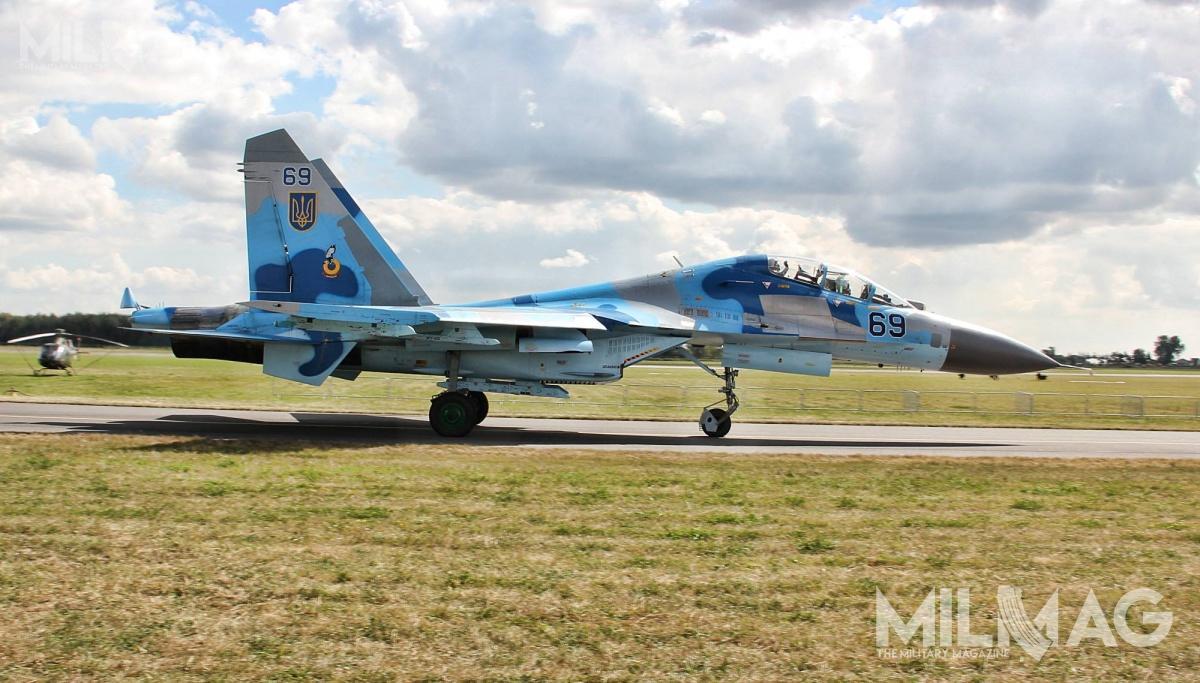 Do chwili katastrofy ukraińskie wojska lotnicze dysponowały 18 zmodernizowanymi dostandardów NATO myśliwcami Su-27UP1M, Su-27S1M, Su-27P1M iSu-27UB1M / Zdjęcie: Jakub Link-Lenczowski