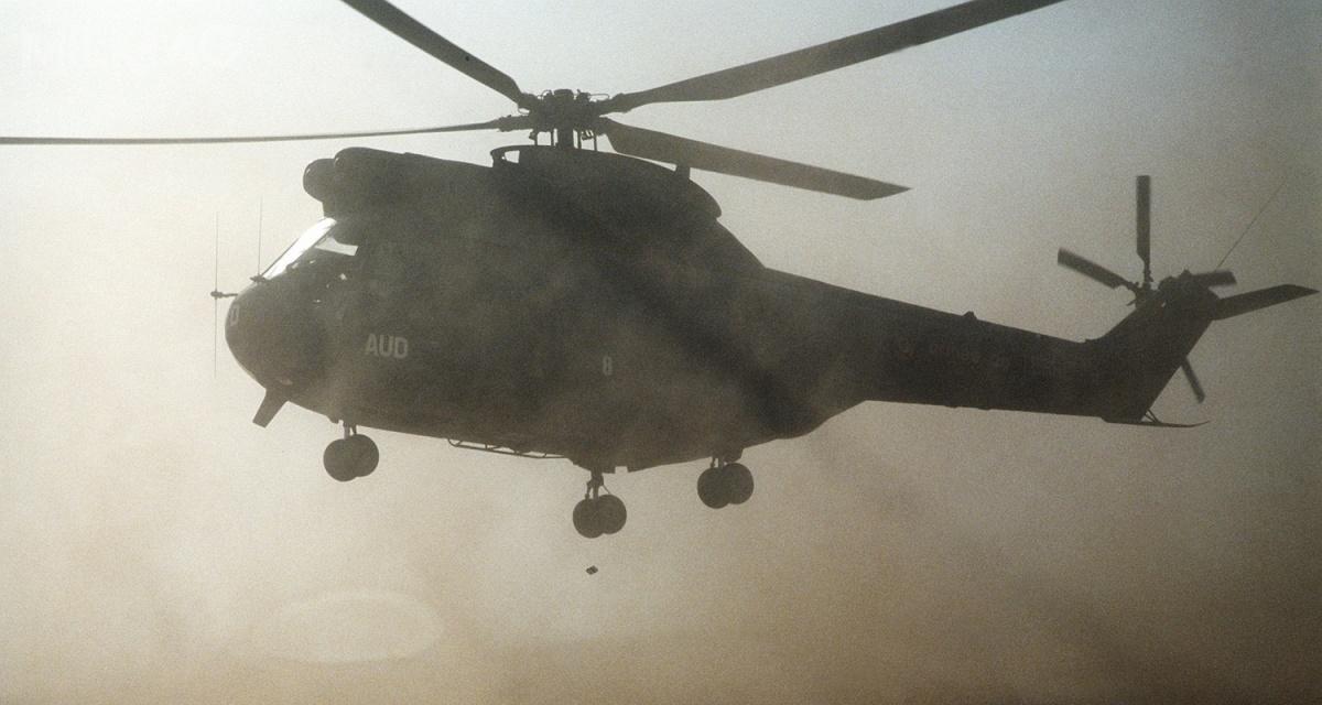 Francuskie śmigłowce SA330 Puma brały udział m.in.woperacji Barracuda wewrześniu 1979 wRepublice Środkowoafrykańskiej, Pustynna Tarcza wArabii Saudyjskiej iPustynna Burza wIraku w1990, wBośni iHercegowinie wkwietniu 1994, wKosowie w1999 ioperacji Barkhane wpółnocnej Afryce / Zdjęcie: H. H. Deffner, Departament Obrony USA