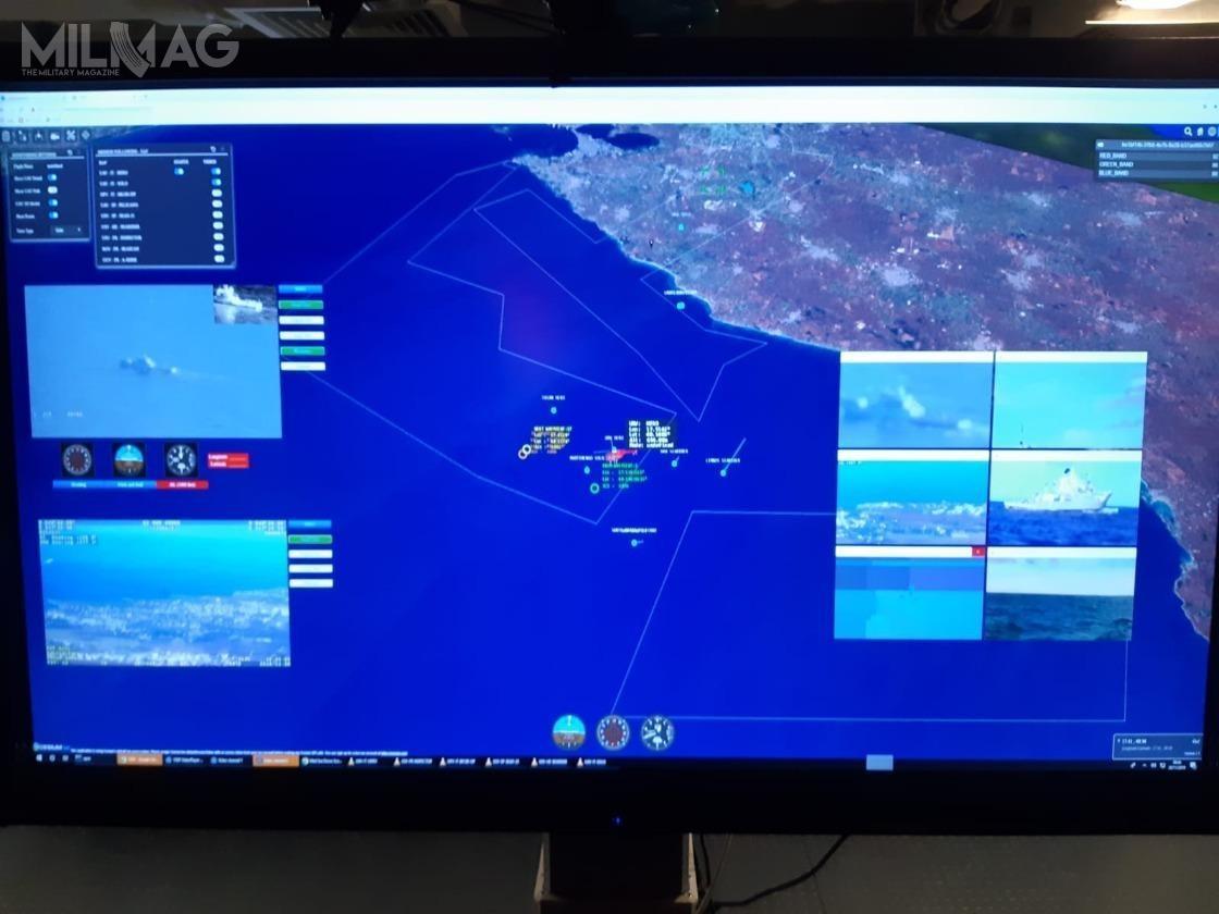 Podczas demonstracji, bezzałogowce przesyłały dane wczasie rzeczywistym napokład okrętów, ate donaziemnych sieci komunikacyjnych, następnie krajowych ieuropejskiego centra koordynacyjnego / Zdjęcia: Leonardo