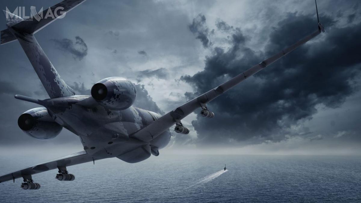 Swordfish MPA miał bazować napłatowcu samolotu Bombardier Global 6000 iw60% być kompatybilny zrozwijanym obecnie samolotem wczesnego ostrzegania idowodzenia GlobalEye. /Grafika: Saab Defence and Security
