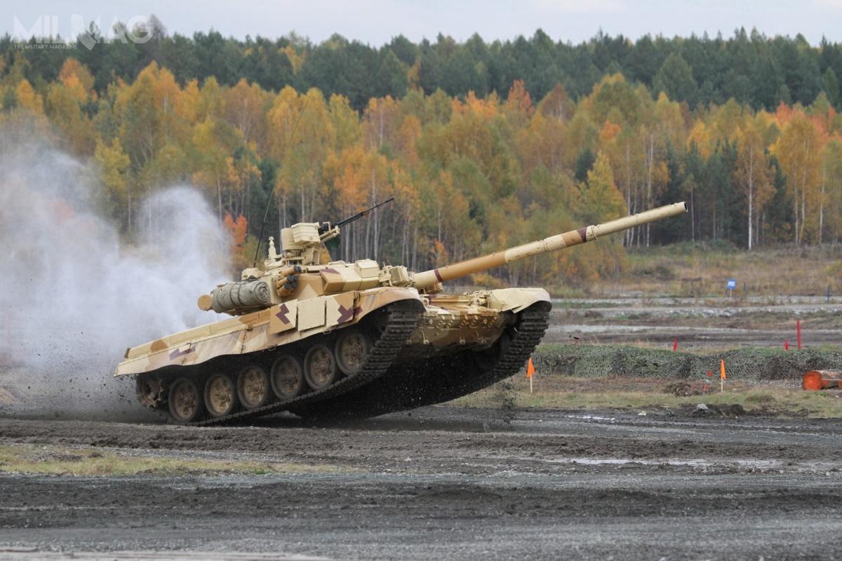 T-90S toeksportowa wersja czołgu podstawowego T-90A. Wariant ten powstał, aby sprostać wymaganiom operacyjnym państw Azji. /Zdjęcie: Aleksiej Kitajew