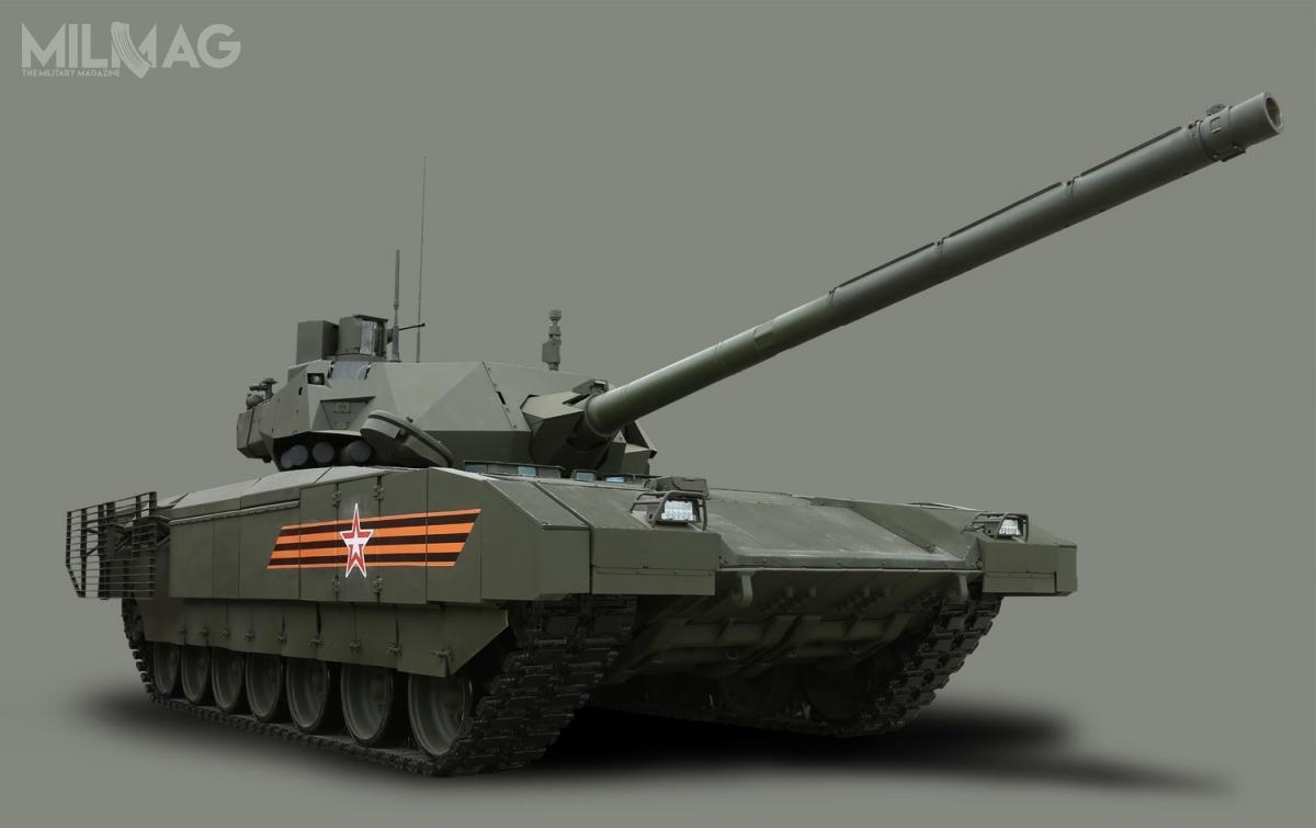 Czołg 4. generacji T-14 Armata, wraz zinnym nowoczesnym sprzętem wojskowym, został zaprezentowany poraz pierwszy podczas Defilady Zwycięstwa wMoskwie 9maja 2015. Wygląda nato, żemimo hucznych zapowiedzi oficjeli, żedo2020 wlinii znajdzie się nawet 2300 wozów, projekt może zostać zamrożony ipodzielić los eksperymentalnych czołgów Czarny Orzeł czyT-95 (Obiekt 195). /Zdjęcie: MO FR