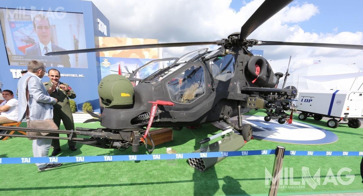 Od 2014 jedynym użytkownikiem 35 z59 zamówionych T129 ATAK są wojska lądowe iżandarmeria wojskowa Turcji / Zdjęcie: Jakub Link-Lenczowski