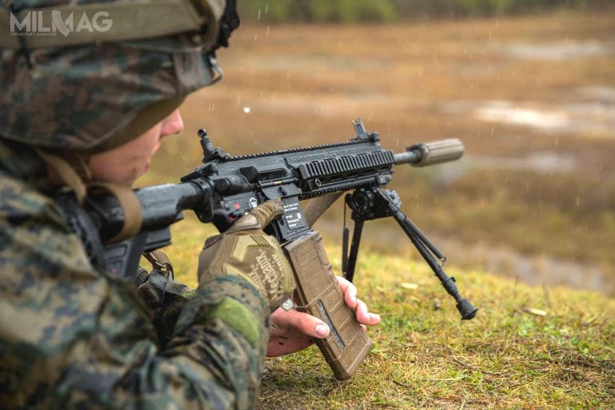 Amerykański Korpus Piechoty Morskiej podpisał umowę nadostawę dużej liczby tłumików dźwięku dobroni strzeleckiej kalibru 5,56 mm. Prawdopodobnie będzie tomodel QDSS-NT4 (nazdjęciu) / Zdjęcie: USMC