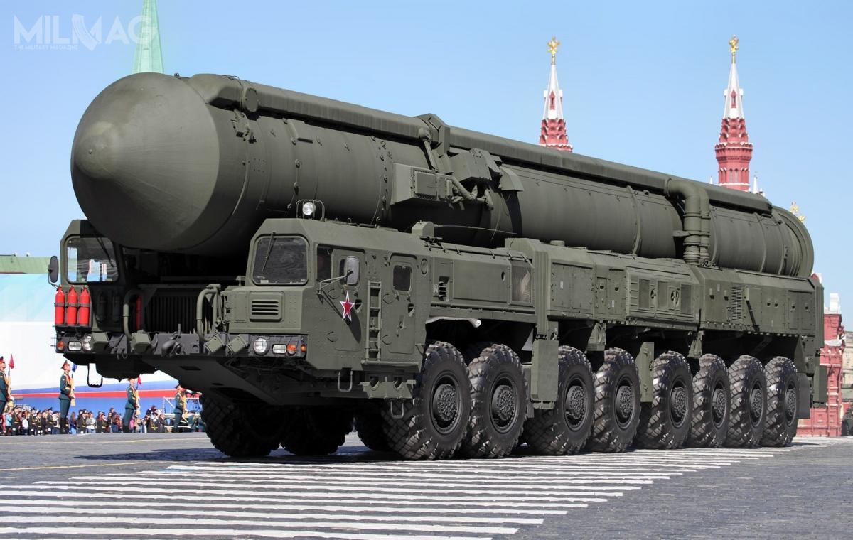 Rosja modernizuje iunifikuje strukturę Wojsk Rakietowych Przeznaczenia Strategicznego, które wprzyszłości prawdopodobnie będą złożone zmiędzykontynentalnych rakietowych pocisków balistycznych RS-24 Jars iRS-28 Sarmat. Wostatnim czasie wstrzymano rozwój pocisków typu RS-26 Rubież iRS-24 Barguzin. /Zdjęcie: Witalij W. Kuźmin