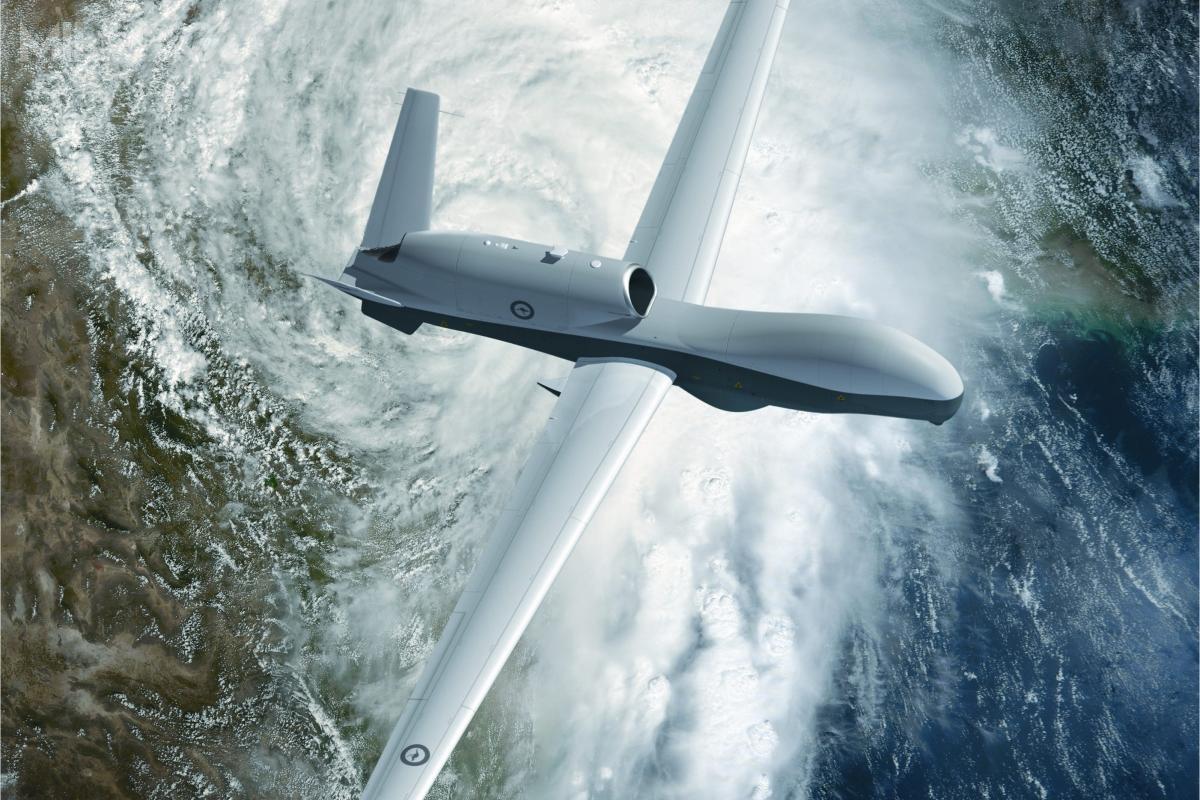MQ-4C Triton powstał wramach programu BAMS ijest morskim rozwinięciem bsl RQ-4 Global Hawk / Zdjęcia: Ministerstwo obrony Australii