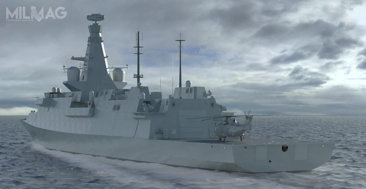 Fregaty będą przenosić uzbrojenie rakietowe klasy woda-powietrze, woda-ziemia iwoda-woda, atakże pojedynczy śmigłowiec dozwalczania okrętów podwodnych / Grafiki: BAE Systems