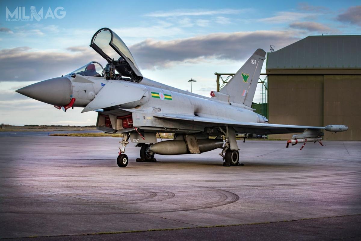 Oprócz czterech eskadr wRAF Lossiemouth, dyżury alarmowe QRA pełnią trzy eskadry zRAF Coningsby (3., 11. i29. Eskadra), wyposażone wsamoloty Eurofighter Typhoon.