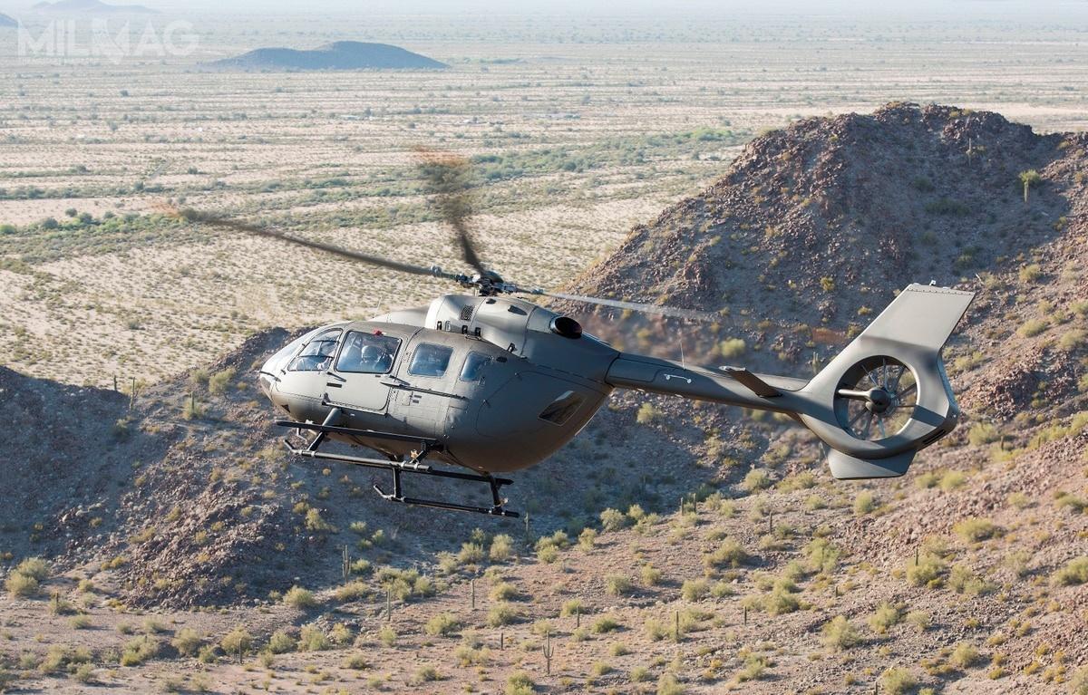 Airbus opublikował zdjęcie UH-72A poddane obróbce graficznej upodabniające go dodocelowego UH-72B. Śmigłowce Lakota wamerykańskich siłach zbrojnych służą dorealizacji misji transportowych, łącznikowych orazdoszkolenia personelu latającego / Zdjęcie: Airbus Helicopters