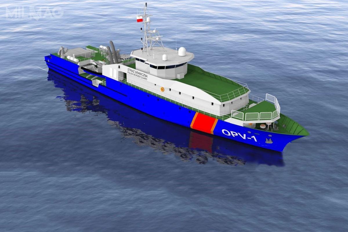 Zgodnie zopublikowaną grafiką, pełnomorski okręt patrolowy klasy OPV będzie bazował napowiększonym typie PLG, którywostatnich latach trafił nawyposażenie francuskiej marynarki wojennej. Jednak ostateczny projekt zostanie uzgodniony zestroną polską