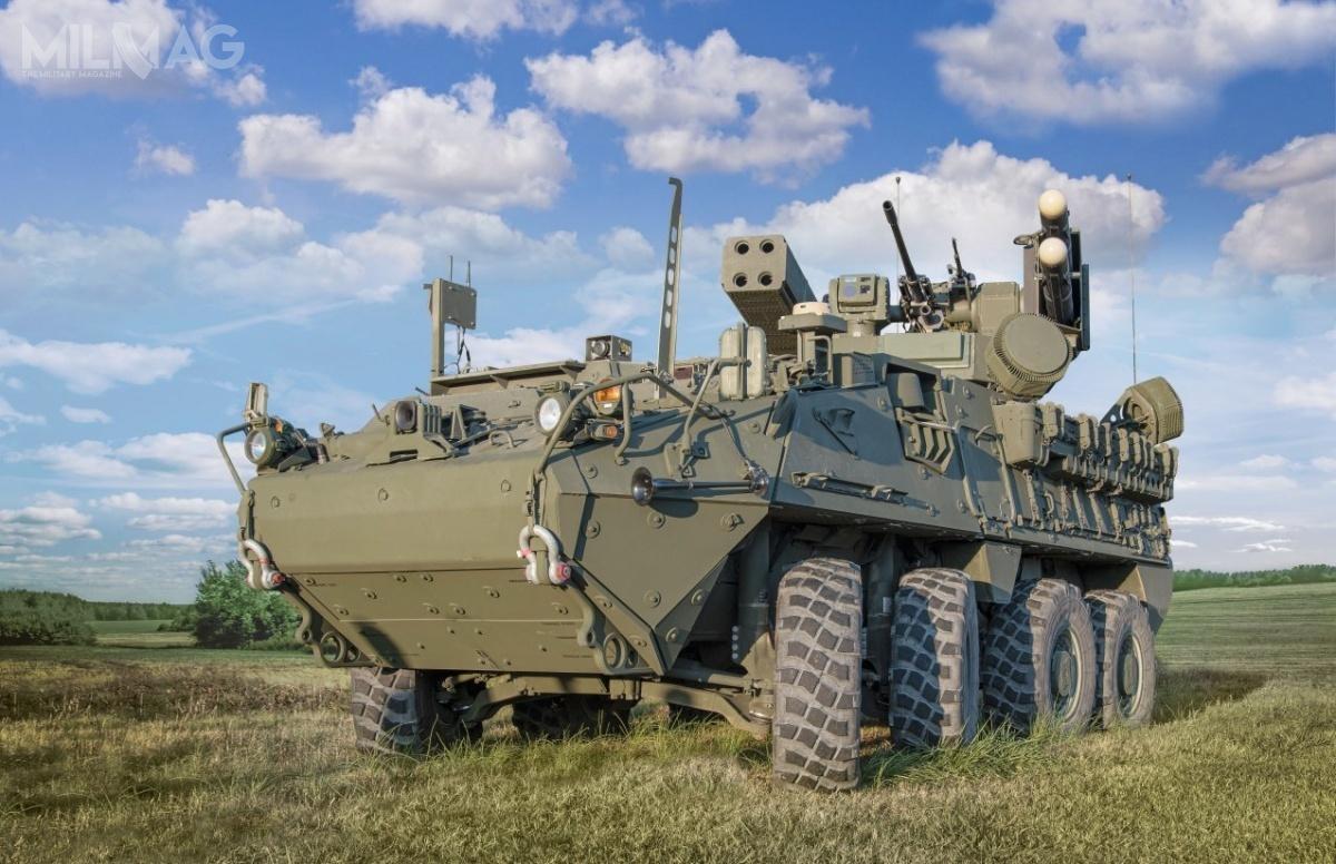 Prototyp IM-SHORAD został zabudowany woparciu opodwozie kołowego transportera opancerzonego ICV Stryker A1, którywyposażono wmoduł ogniowy zwyrzutnią czterech pocisków przeciwlotniczych FIM-92 Stinger iczterech ppk AGM-114L, 30-mm armaty automatycznej M230 i7,62-mm karabinu maszynowego / Zdjęcie: US Army